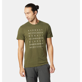 Mountain Hardwear Seven Summits T-shirt Heren, dark army